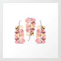 Leaf Trio Art Print