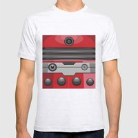 Dalek Red - Doctor Who Mens Fitted Tee Ash Grey SMALL