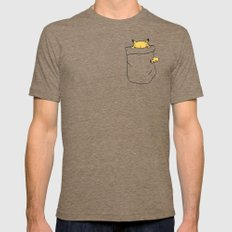 Pika-chu Pocket Monster.… Mens Fitted Tee Tri-Coffee SMALL