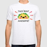 Taco 'bout awesome! Mens Fitted Tee Ash Grey SMALL