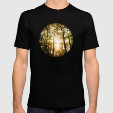 Sunset Glow Mens Fitted Tee SMALL Black