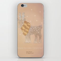 Christmas creatures- The Cozy Deer iPhone & iPod Skin