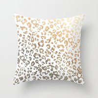 GOLD LEO Throw Pillow