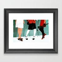 Three Marlenas Framed Art Print