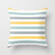 sweet bee stripes Throw Pillow