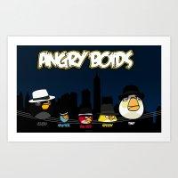 Angry Boids Art Print