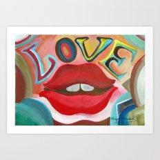 Love 5 por Diego Manuel Art Print