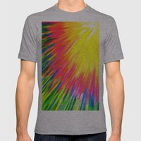Lightning rays Mens Fitted Tee Athletic Grey SMALL