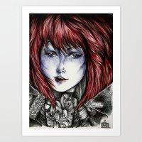 Isura (lilyneck portrait sketch)  Art Print