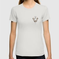 Earth Womens Fitted Tee Silver SMALL