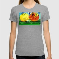 Organic Fruits Womens Fitted Tee Tri-Grey SMALL