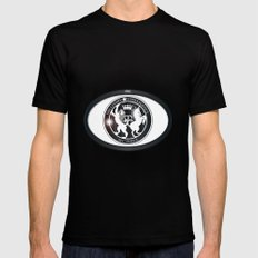 MI6 Oval Badge Black SMALL Mens Fitted Tee