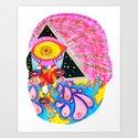 Psychedelic Wrestler Art Print