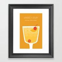 Whiskey Sour - Alcohol Framed Art Print