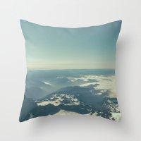 Amidst the Summit - Mt. Rainier Throw Pillow