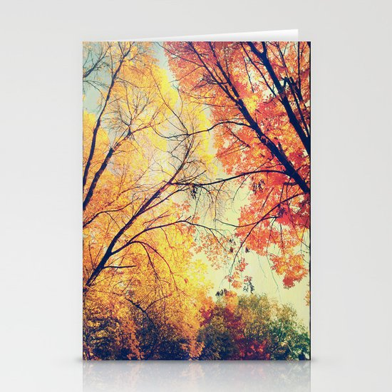 Autumn Embrace Stationery Card