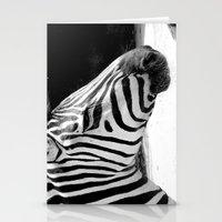 b&w zebra Stationery Cards