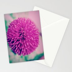 Round Pink Stationery Cards