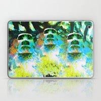 moai in green Laptop & iPad Skin