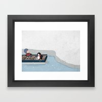 Reaching the South Pole Framed Art Print