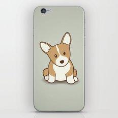 Welsh Corgi Puppy Illustration iPhone & iPod Skin