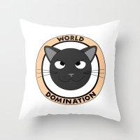 World Domination II Throw Pillow