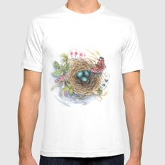 Robin's Nest Mens Fitted Tee White SMALL