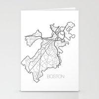 boston Stationery Cards featuring Boston by linnydrez