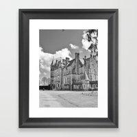 Castle B&W Framed Art Print