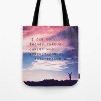 Philippians 4:13 In Natu… Tote Bag