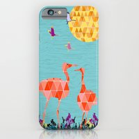 iPhone & iPod Case featuring Flamingo Park by David Andrew Sussman