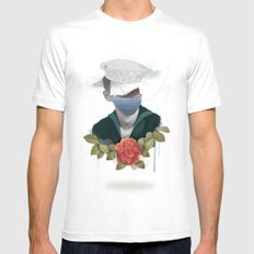 Broken Hearts White SMALL Mens Fitted Tee