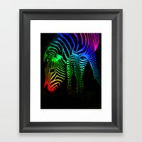 Rainbow Zebra Framed Art Print