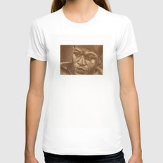 round 3...floyd mayweather jr Womens Fitted Tee White SMALL