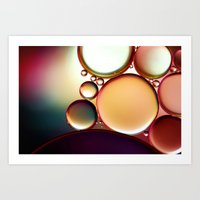 Oil On Water Colourful Art Print