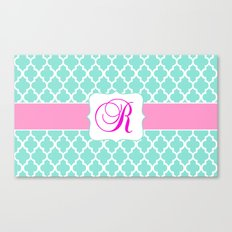 Mint Moroccan Print with Pretty Pink
