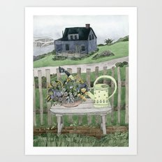 Cottage at the Sea Art Print