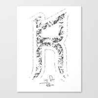R - Is For Rare - White … Canvas Print