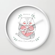 yummi cat Wall Clock