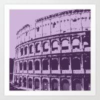 Purpura Coliseum Art Print