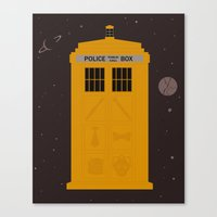 The Tardis Got Some Ink Canvas Print