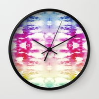 Tie Dye Rainbow Wall Clock