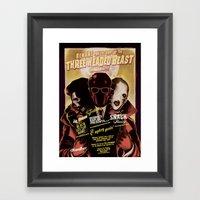 Night Of The 3 Headed Be… Framed Art Print