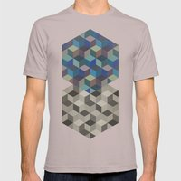 Dimension In Blue Mens Fitted Tee Cinder SMALL