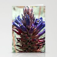 Purple  Flower  Spikes Stationery Cards