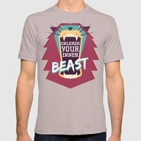 Unleash Your Inner Beast Mens Fitted Tee Cinder SMALL