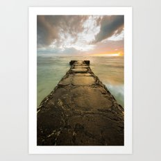 Sunset over Maili Art Print