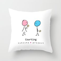 COURTING by ISHISHA PROJECT Throw Pillow