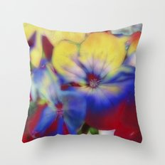 Abstract Flowes 01 Throw Pillow