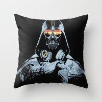 DJ Darth Vader Throw Pillow
